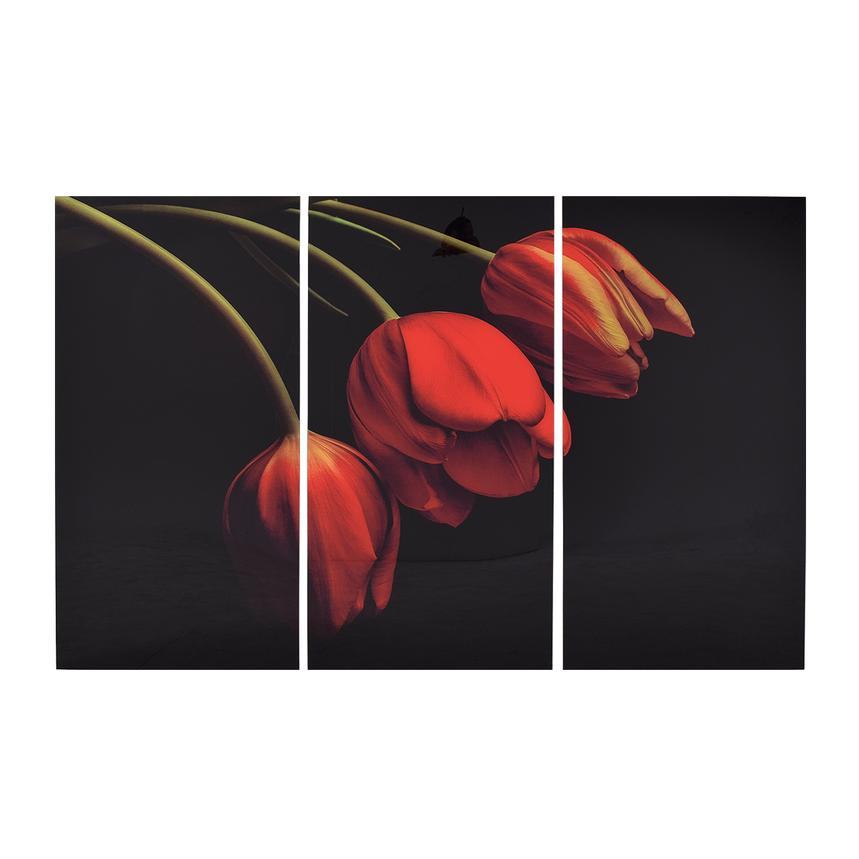 Belles Tulipes Set of 3 Acrylic Wall Art  main image, 1 of 4 images.