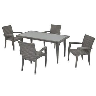 Neilina Gray 5-Piece Patio Set