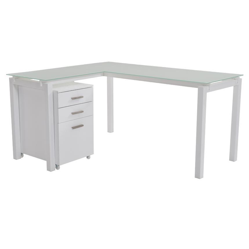 Soni L Shaped Desk W File Cabinet El Dorado Furniture