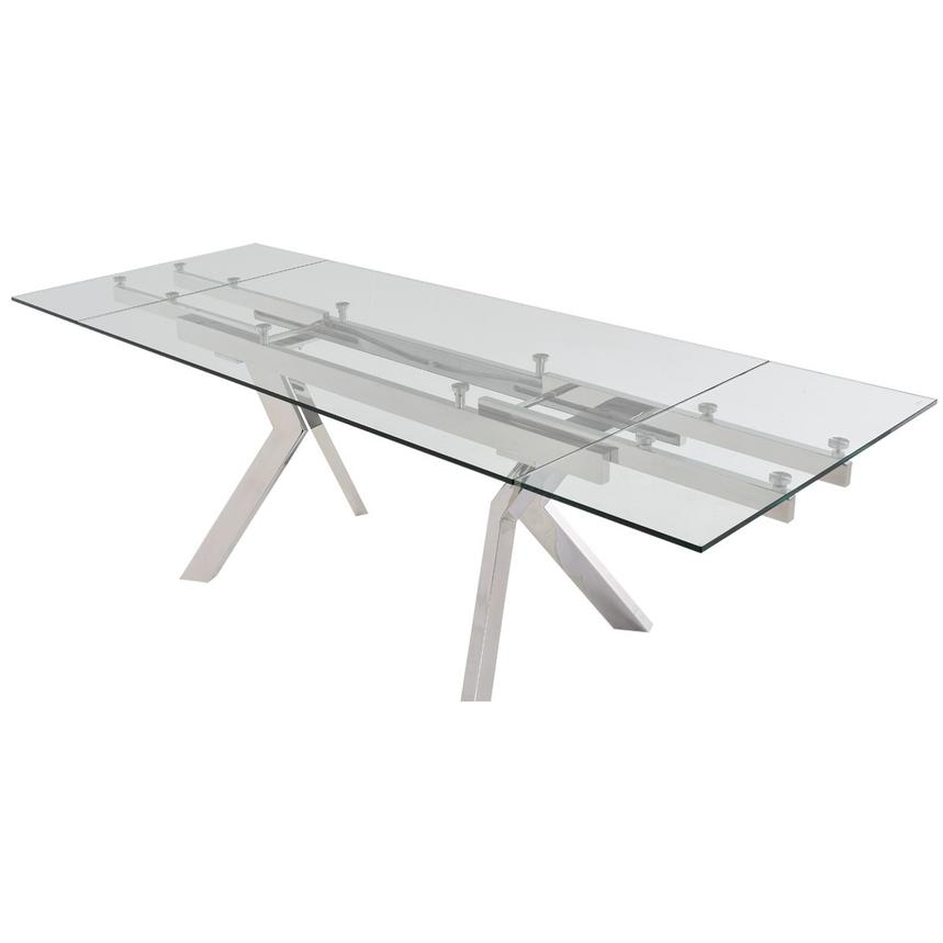 Lynne Clear Extendable Dining Table  alternate image, 5 of 7 images.