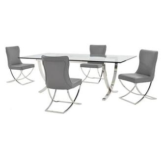 Luciele/Amanda Gray 5-Piece Formal Dining Set