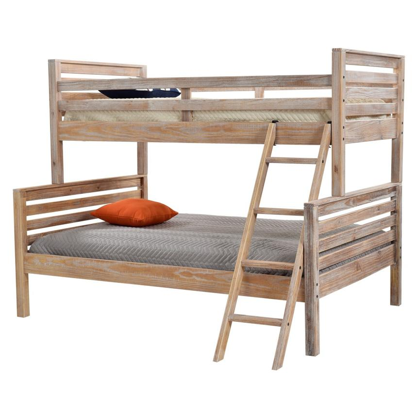 Montauk Natural Twin Over Full Bunk Bed Made In Brazil El Dorado