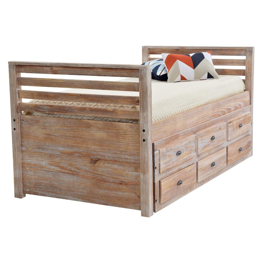 Montauk Natural Twin Storage Captain Bed Made In Brazil