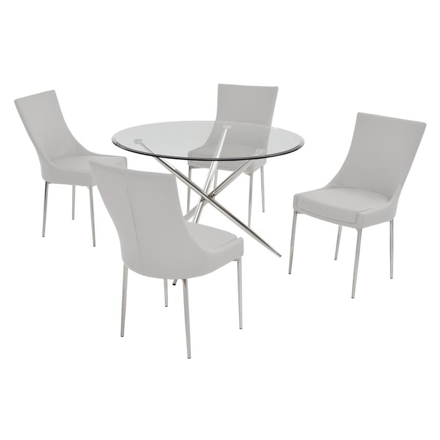 Patricia White 5-Piece Casual Dining Set  main image, 1 of 7 images.