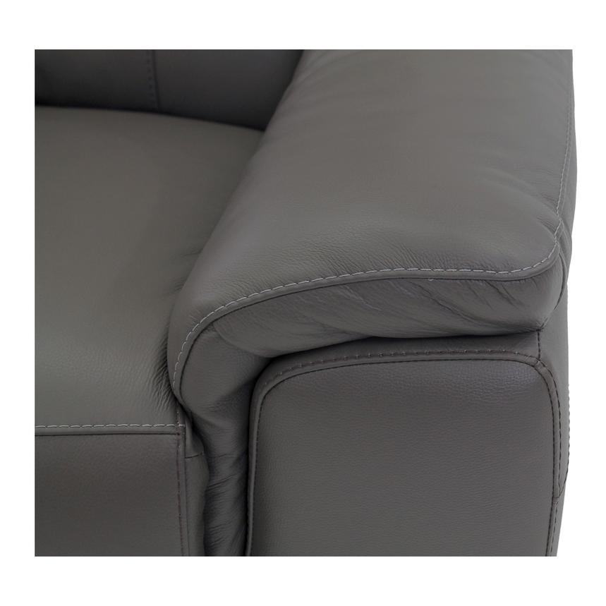 Davis Gray Power Motion Leather Sofa w/Right & Left Recliners  alternate image, 5 of 11 images.