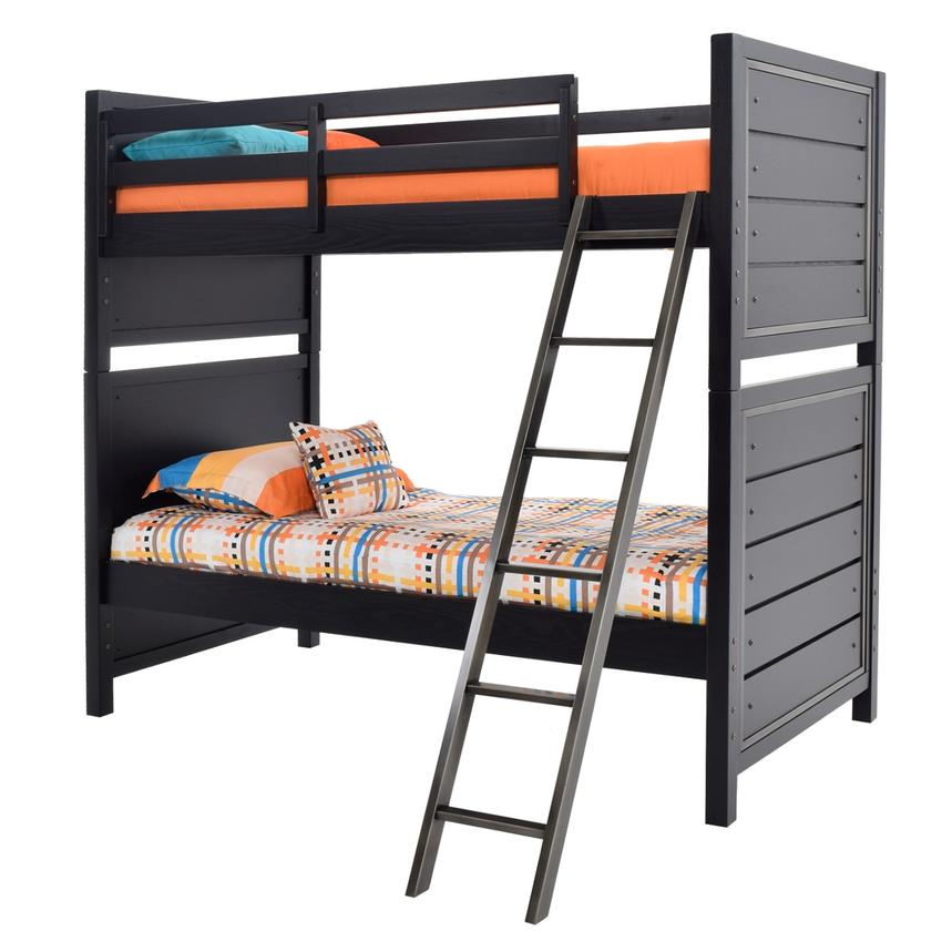 Graphite Twin Over Twin Bunk Bed  main image, 1 of 8 images.