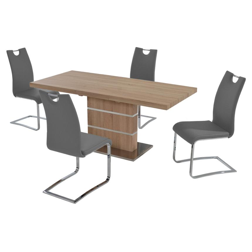 Lorange/Josseline Gray 5-Piece Casual Dining Set  main image, 1 of 9 images.