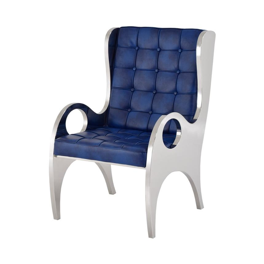 High Quality Boss Blue Accent Chair Main Image, 1 Of 5 Images.