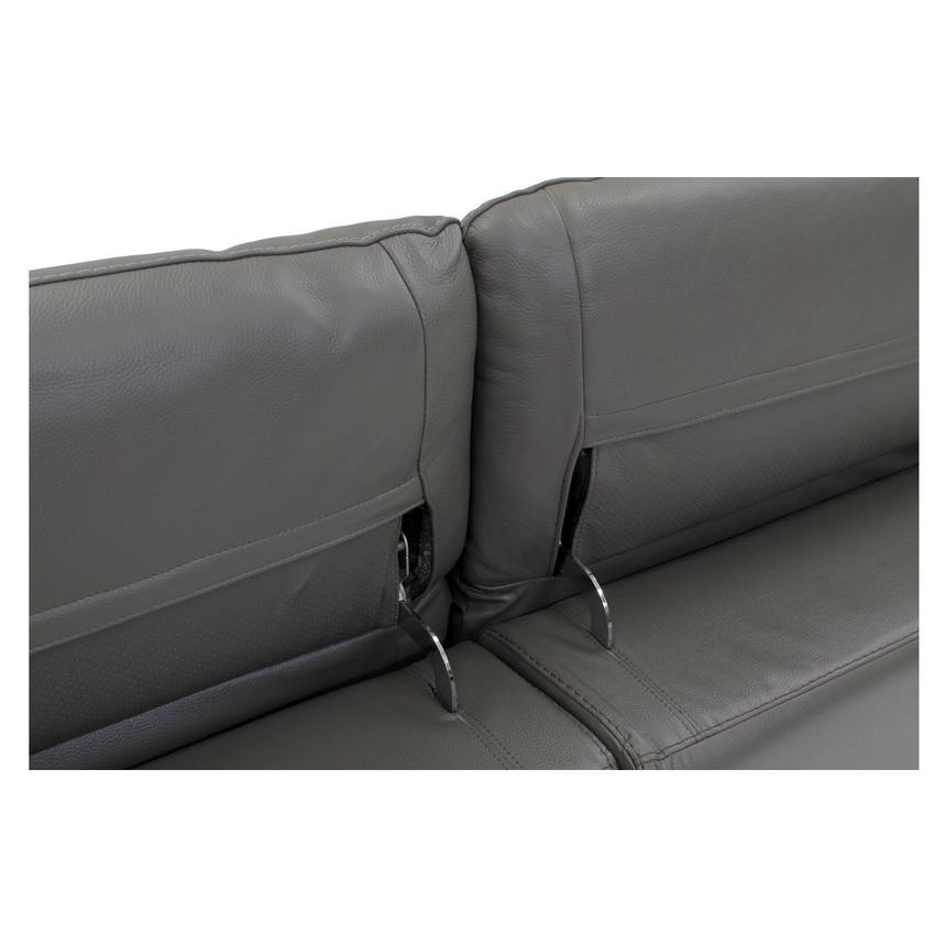 Davis Gray Power Motion Leather Sofa w/Right & Left Recliners  alternate image, 5 of 10 images.