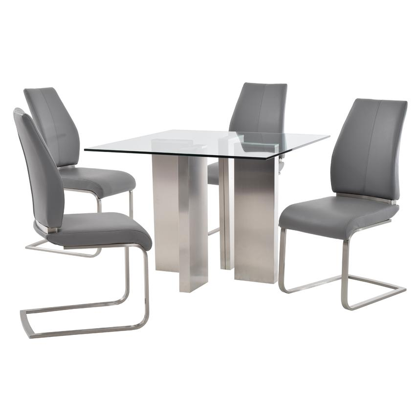 Soler/Maday Gray 5-Piece Casual Dining Set  main image, 1 of 10 images.