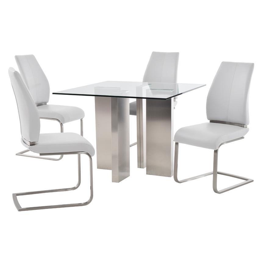 Soler/Maday White 5-Piece Casual Dining Set  main image, 1 of 10 images.