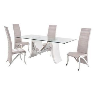 Merveilleux Maverick 5 Piece Formal Dining Set