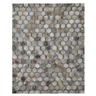 Cannes Gray Cowhide Patchwork 8' x 10' Area Rug