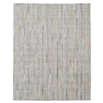 Marsala Cream Cowhide Patchwork 8' x 10' Area Rug