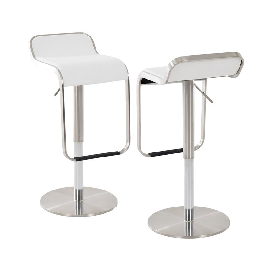 Binx White Adjustable Stool  main image, 1 of 4 images.
