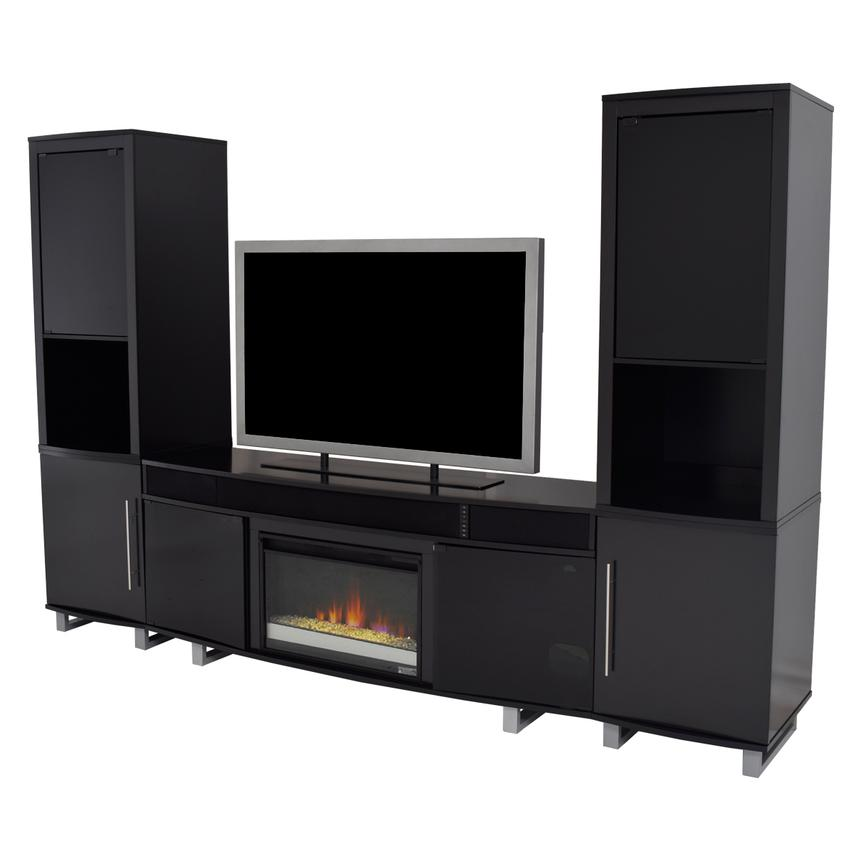 Enterprise Black Wall Unit w/Speakers  main image, 1 of 13 images.