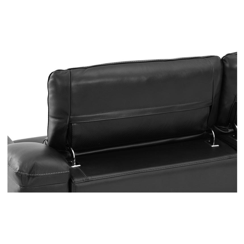 Davis Black Power Motion Leather Sofa  alternate image, 6 of 9 images.