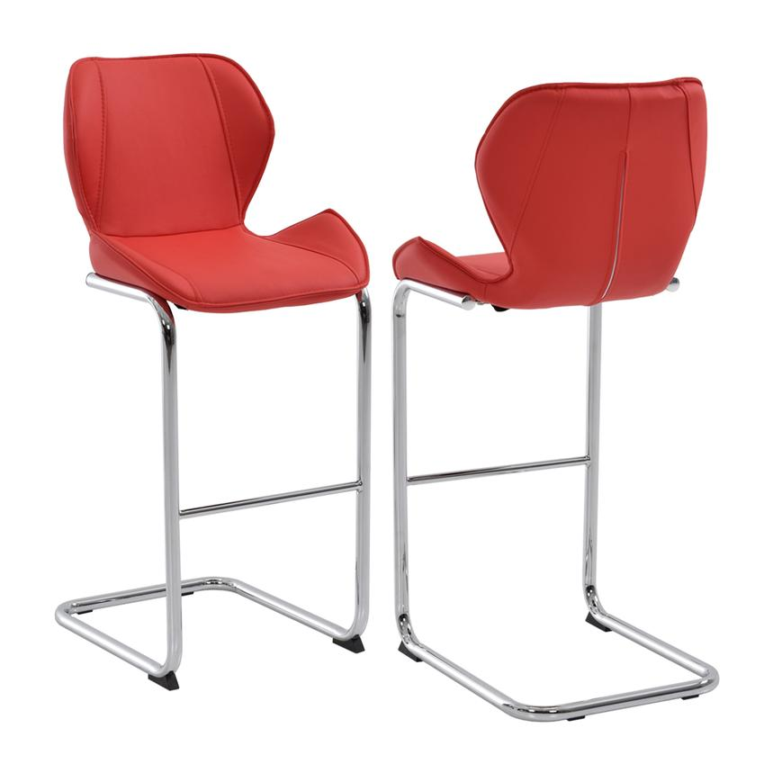 Latika Red Bar Stool Main Image, 1 Of 6 Images.