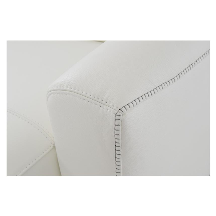 Bay Harbor White Leather Sleeper w/Storage  alternate image, 6 of 9 images.