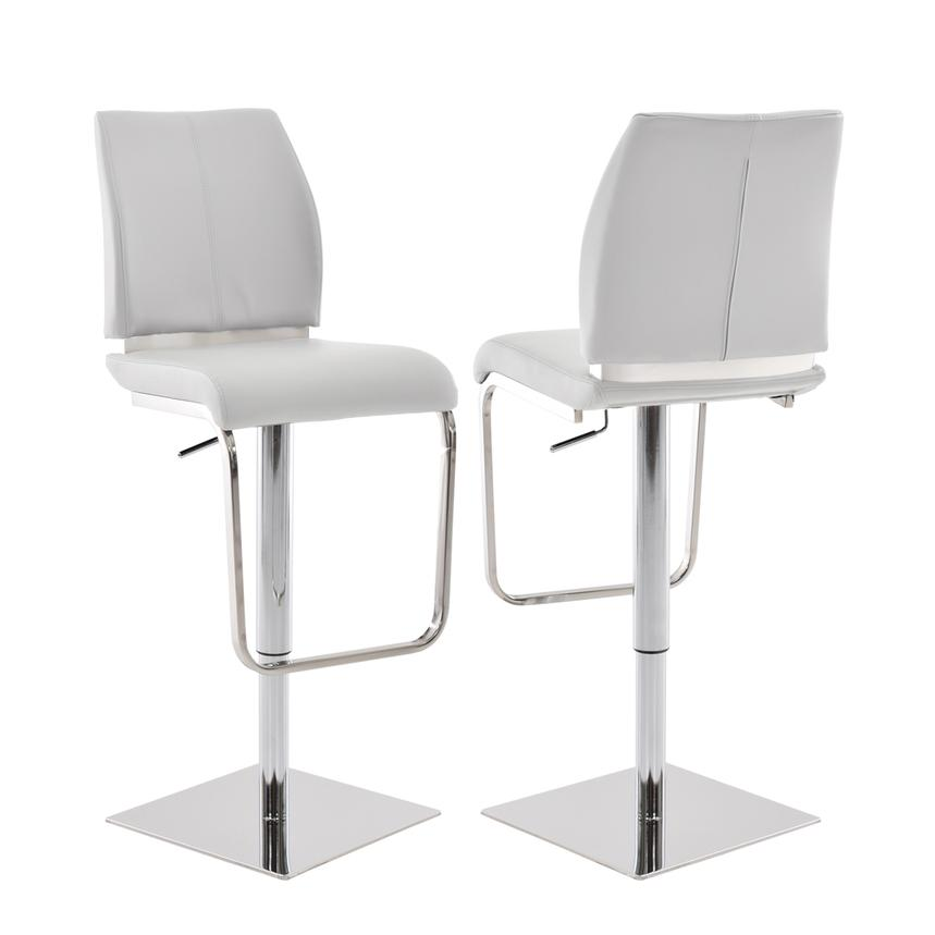 Maday White Adjustable Stool  main image, 1 of 5 images.