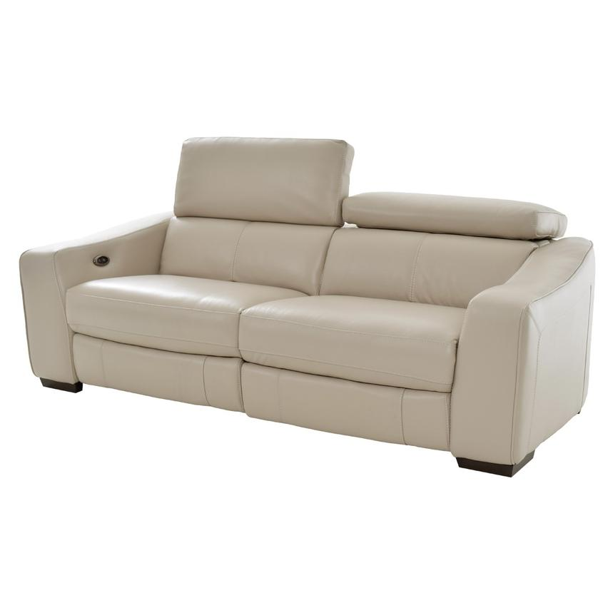 Etonnant James Cream Power Motion Leather Sofa Main Image, 1 Of 10 Images.