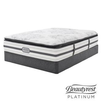 Stone Mountain Queen Mattress Set w/Regular Foundation by Simmons Beautyrest Platinum