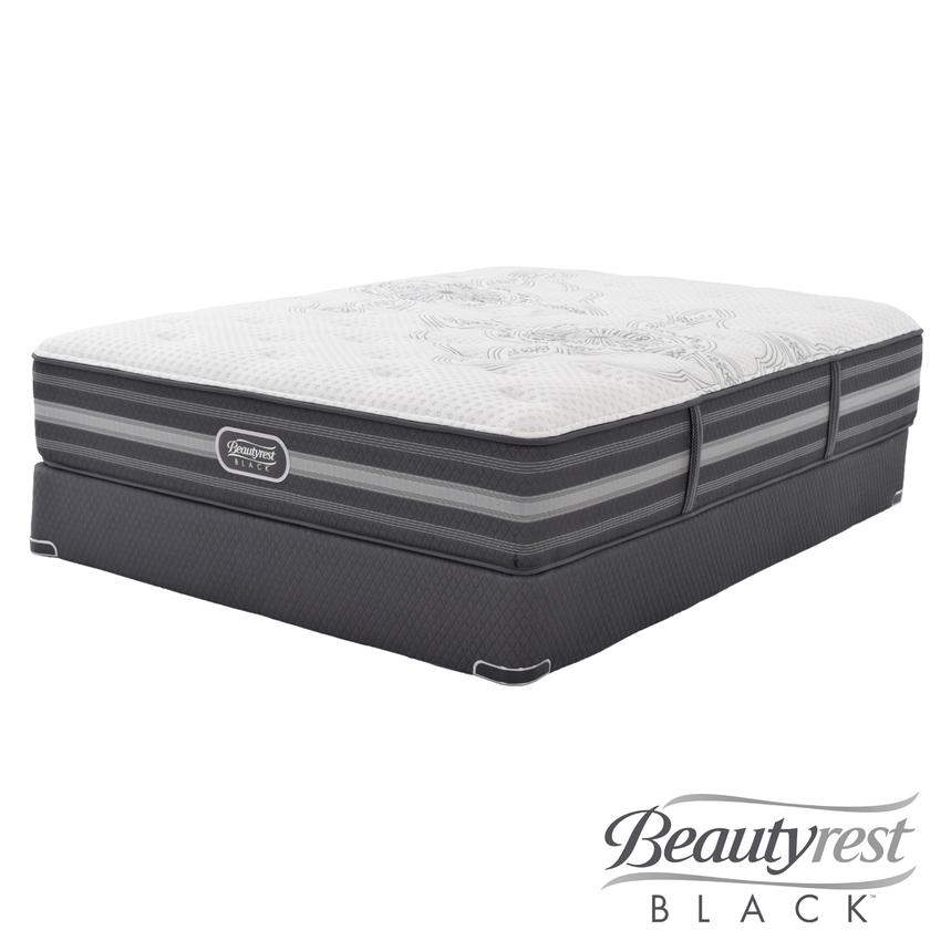 Calista Full Mattress Set w/Low Foundation by Simmons Beautyrest Black  main image, 1 of 5 images.