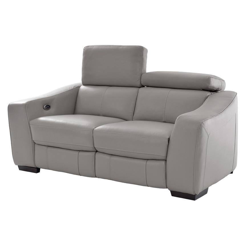 James Gray Power Motion Leather Loveseat  main image, 1 of 9 images.