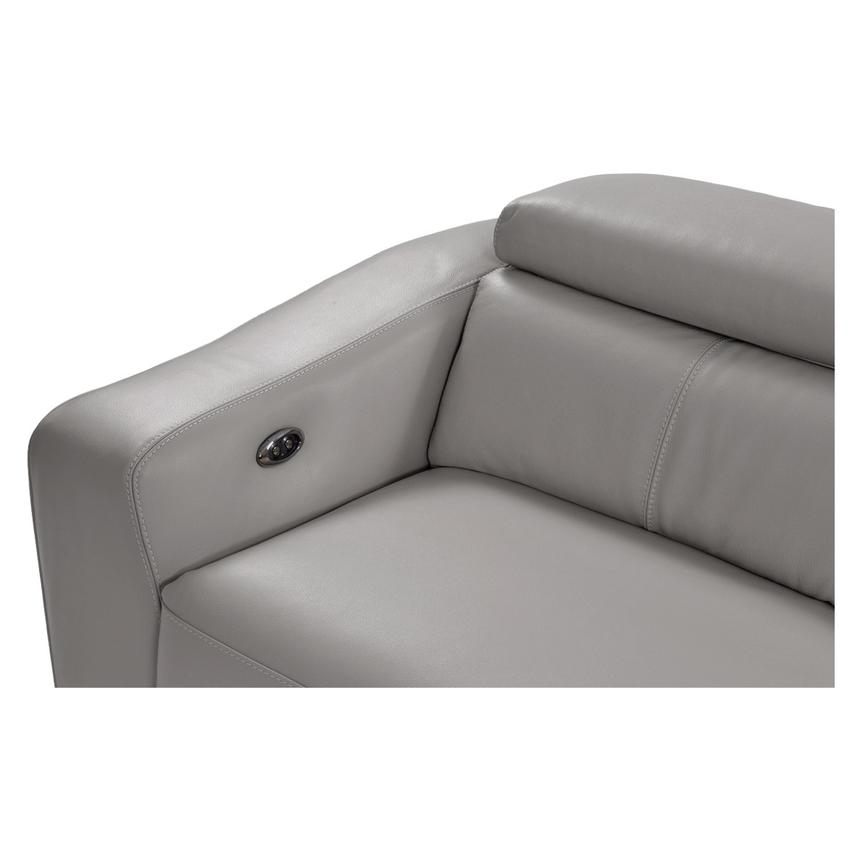James Gray Power Motion Leather Loveseat  alternate image, 6 of 9 images.