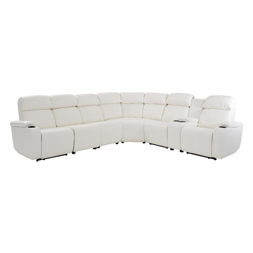 Magnetron White Power Motion Sofa w/Right & Left Recliners  main image, 1 of 10 images.