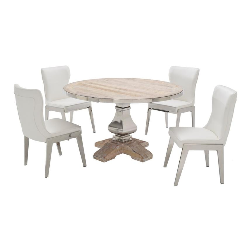 Wilma/Onyx 5 Piece Formal Dining Set Main Image, 1 Of 10 Images