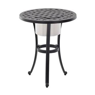 Castle Rock Brown Side Table w/ Ice bucket