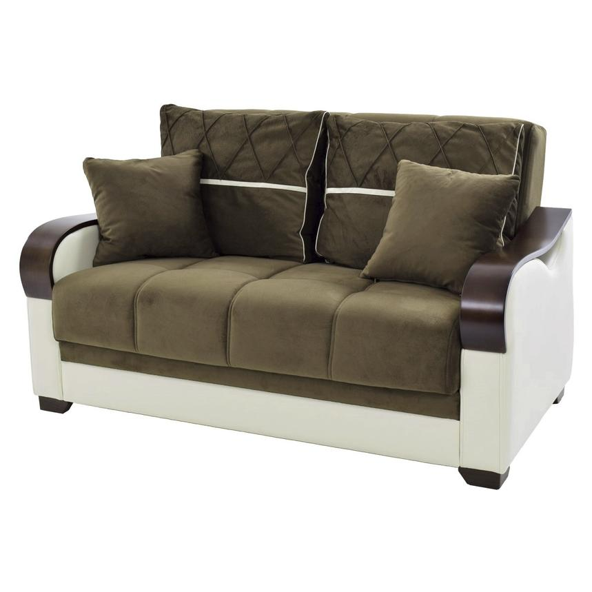 Bennett Futon Loveseat w/Storage  main image, 1 of 7 images.
