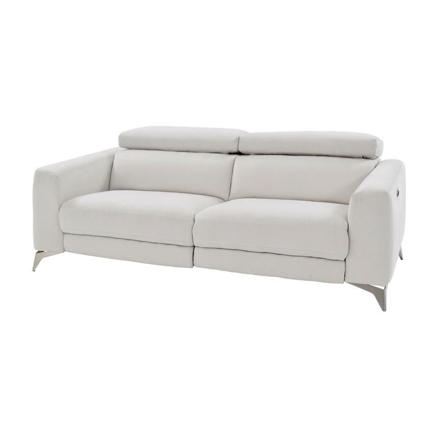 Beau Piera White Power Motion Sofa Main Image, 1 Of 11 Images.