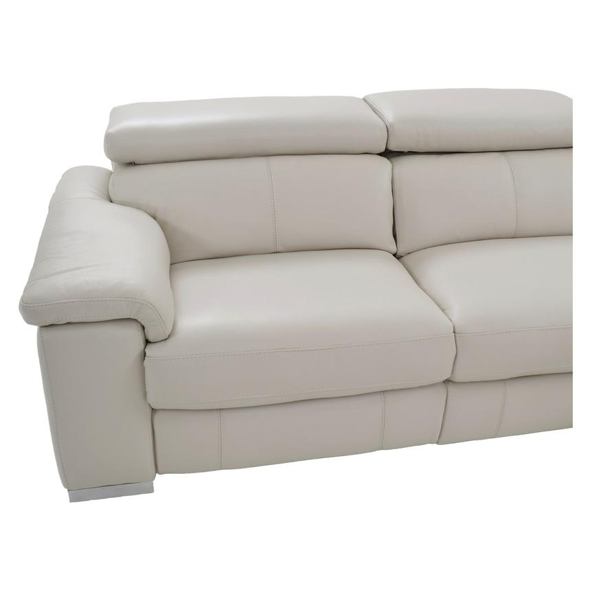 Nathan Cream Power Motion Leather Sofa w/Right & Left Recliners  alternate image, 6 of 10 images.