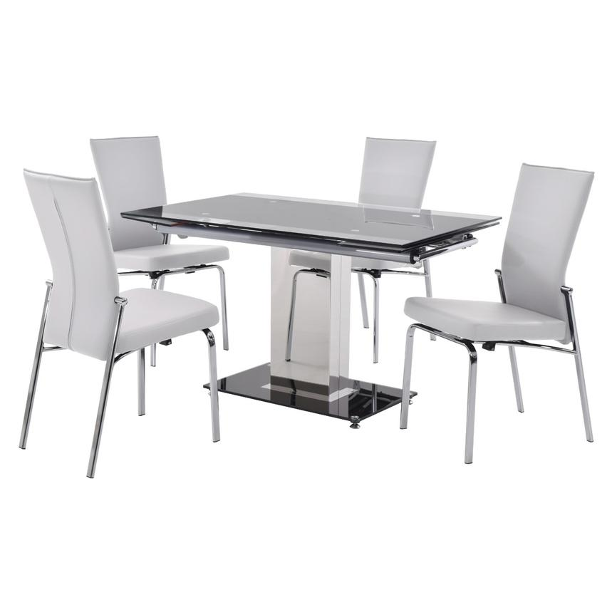 Antonia White 5-Piece Casual Dining Set  main image, 1 of 13 images.