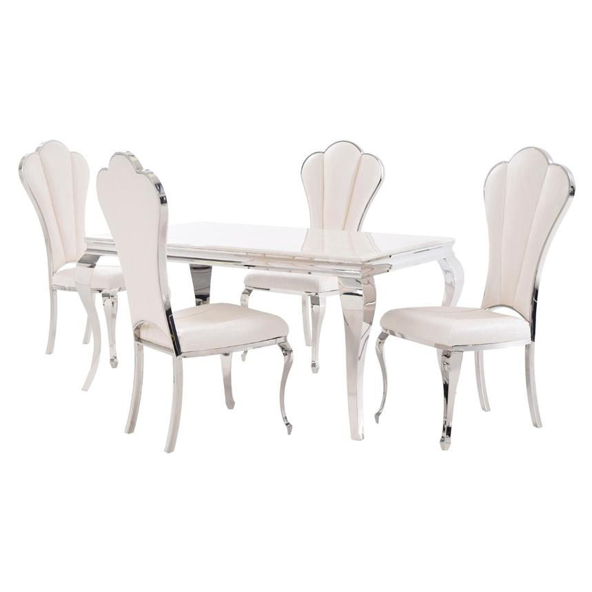 Lizbon/Raegan 5-Piece Formal Dining Set  main image, 1 of 11 images.