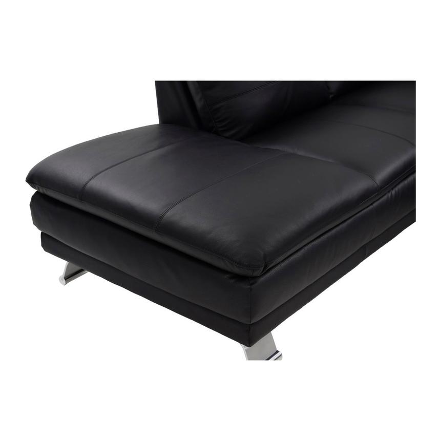 Rio Black Leather Sofa w/Left Chaise  alternate image, 6 of 8 images.