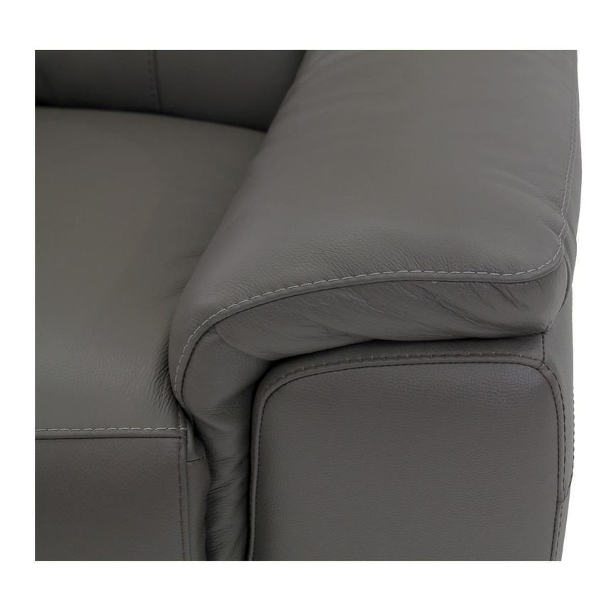 Davis Gray Power Motion Leather Sofa w/Right & Left Recliners  alternate image, 6 of 9 images.