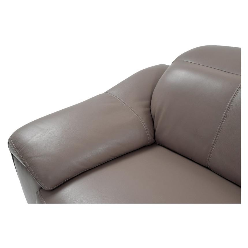 Gaspy Gray Power Motion Leather Sofa w/Right & Left Recliners  alternate image, 5 of 11 images.