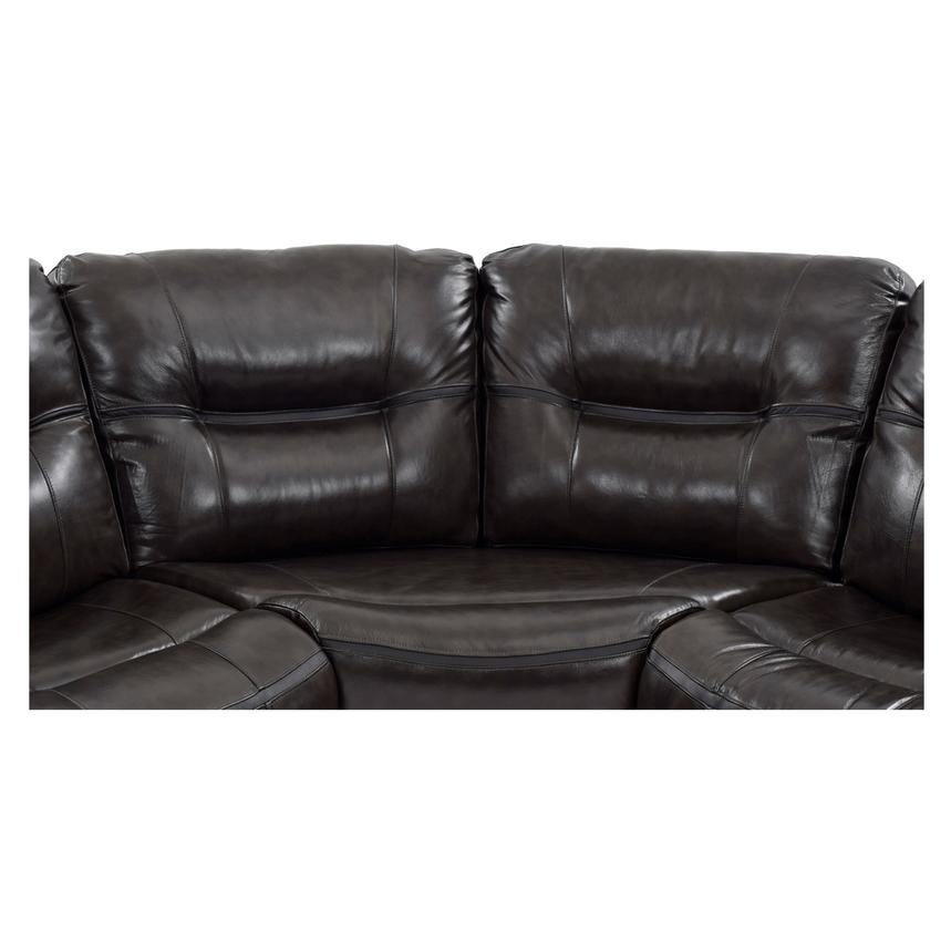 Beau Houston Dark Gray Power Motion Leather Sofa W/Console Alternate Image, 6 Of  11