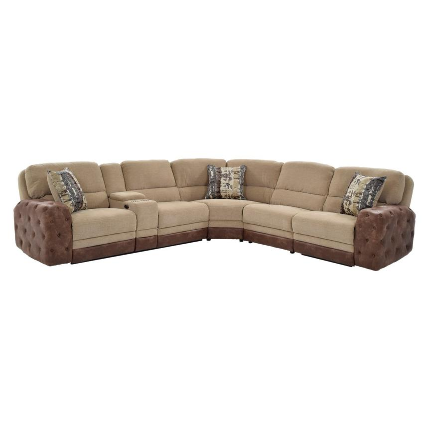 Manda Power Motion Sofa W/Console Main Image, 1 Of 10 Images.