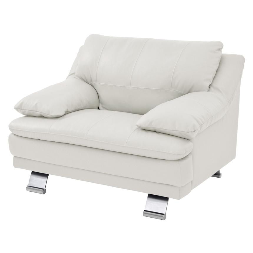 Rio White Leather Occasional Chair  main image, 1 of 6 images.