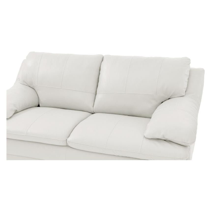 Rio White Leather Loveseat  alternate image, 5 of 6 images.