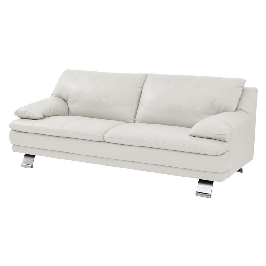 Rio White Leather Sofa  main image, 1 of 6 images.