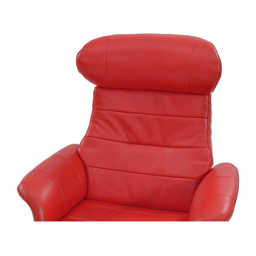Enzo Red Leather Swivel Chair  alternate image, 5 of 9 images.