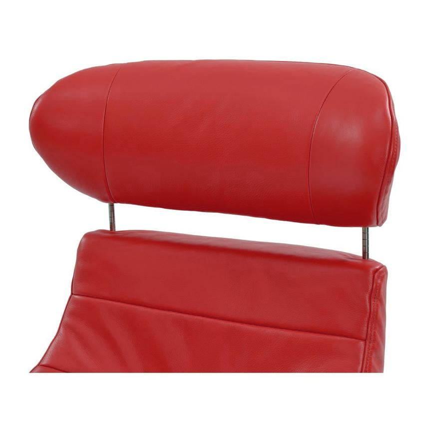 Enzo Red Leather Swivel Chair  alternate image, 6 of 10 images.