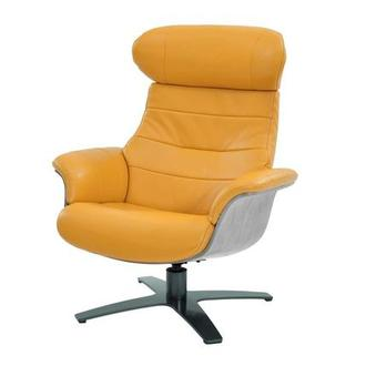 Attrayant Enzo Yellow Leather Swivel Chair
