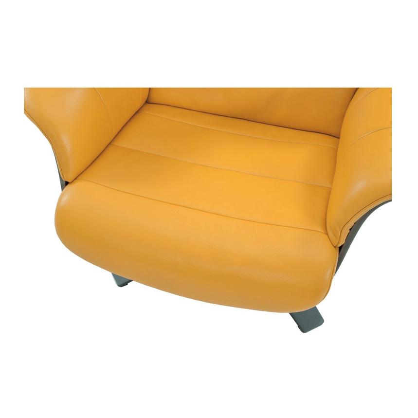 Enzo Yellow Leather Swivel Chair  alternate image, 7 of 10 images.