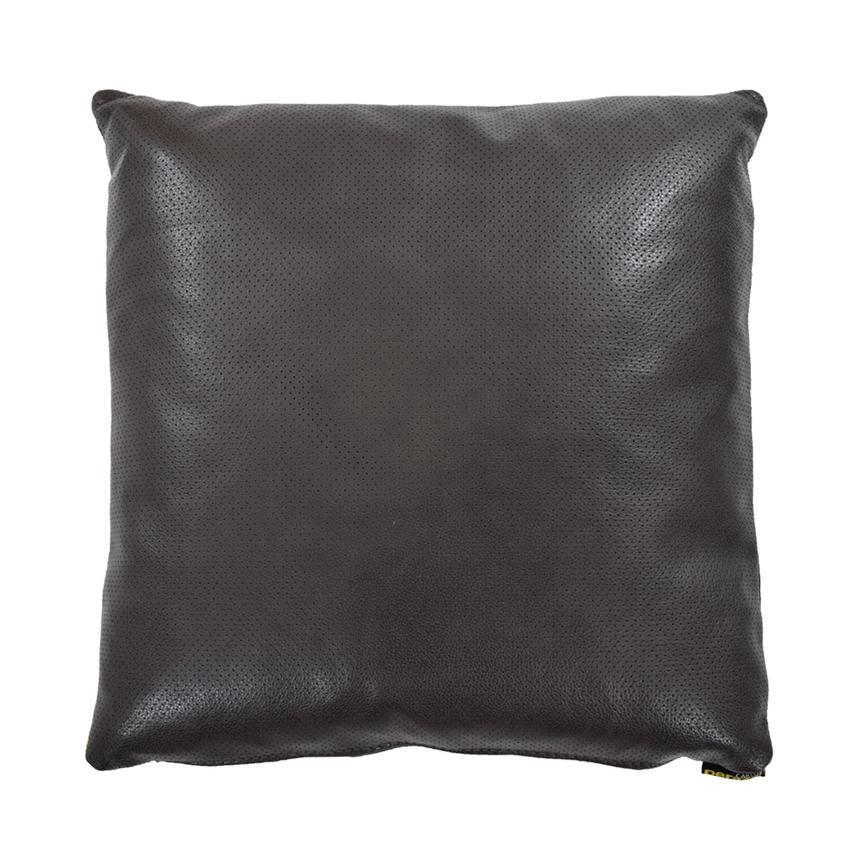 Zoe Gray Leather Accent Pillow  main image, 1 of 4 images.